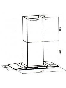 Gabinete fregadero 80 x 50 cm. Caoba